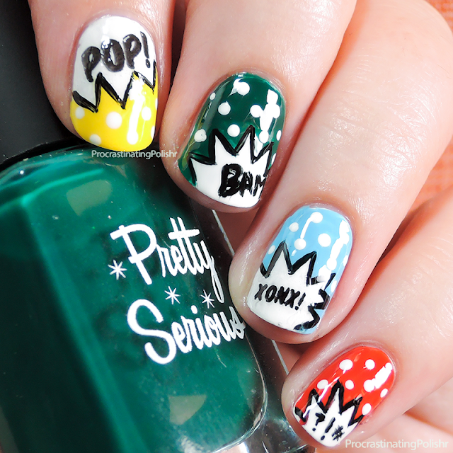 Comic Book Nail Art