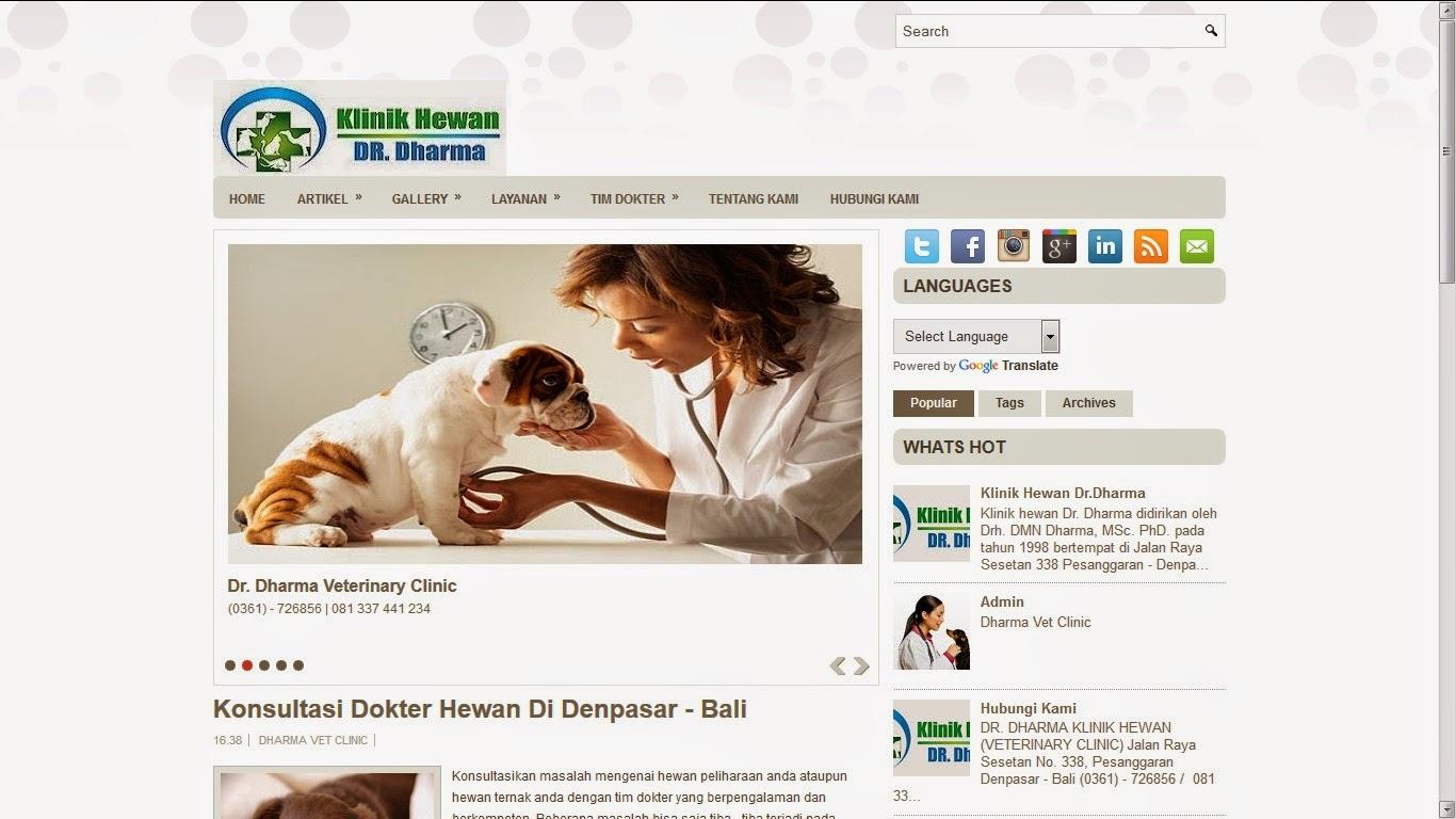Website Klinik Hewan - http://dharmavetclinic.com