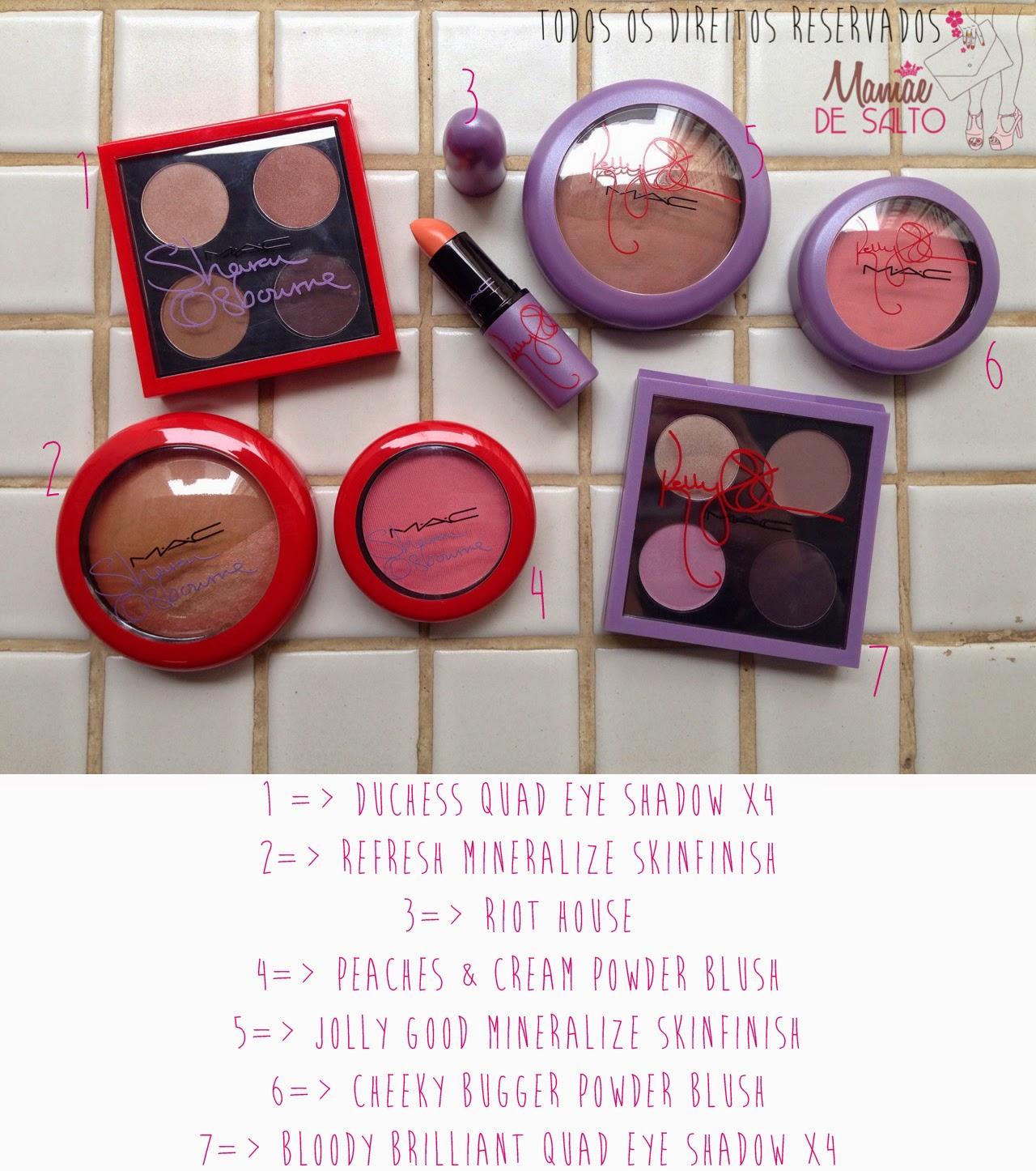 Minhas comprinhas da coleção Sharon e Kelly Osbourne para MAC - todos os direitos reservados blog Mamãe de Salto