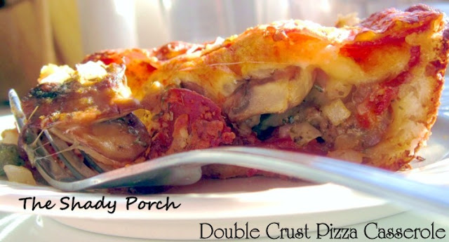 Double Crust Pizza Casserole #casserole #pizza #recipe #main