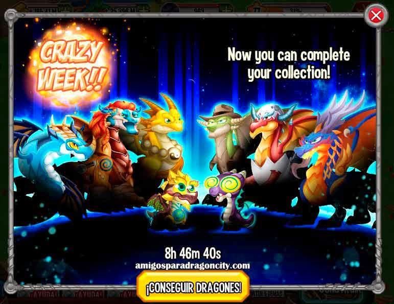 imagen del crazy week de dragon city