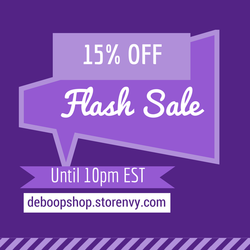 Surprise Rainy Day Flash Sale until 10pm EST 10/16/14