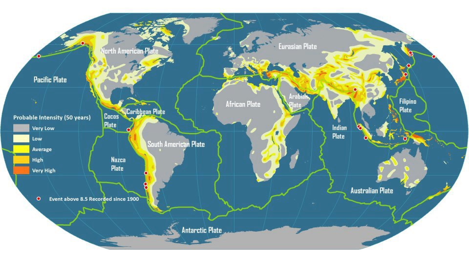 Mapping Seismic Activity: Vulnerable vs. Non-Vulnerable Regions