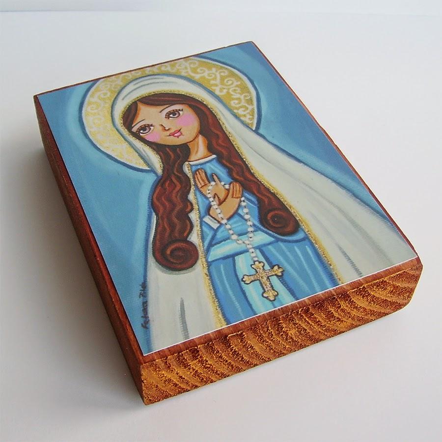 Drewniany obrazek obraz ilustracja święty święta patron święci błogosławiona błogosławiony dla dziewczynki chłopca chłopczyka dziecka prezent upominek na gwiazdkę ozdoba dekoracja bożonarodzeniowa świąteczna Jezus Chrystus Matka Boska Boża Różańcowa różaniec Maryja dziecko pamiątka chrztu chrzest pierwsza bierzmowanie komunia narodziny urodziny