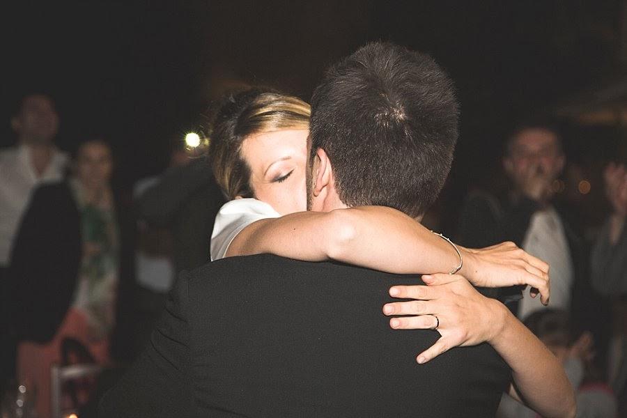 Gli sposi a fine festa