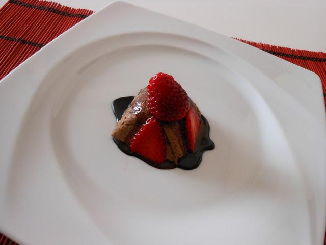 mousse di cioccolato e fragole