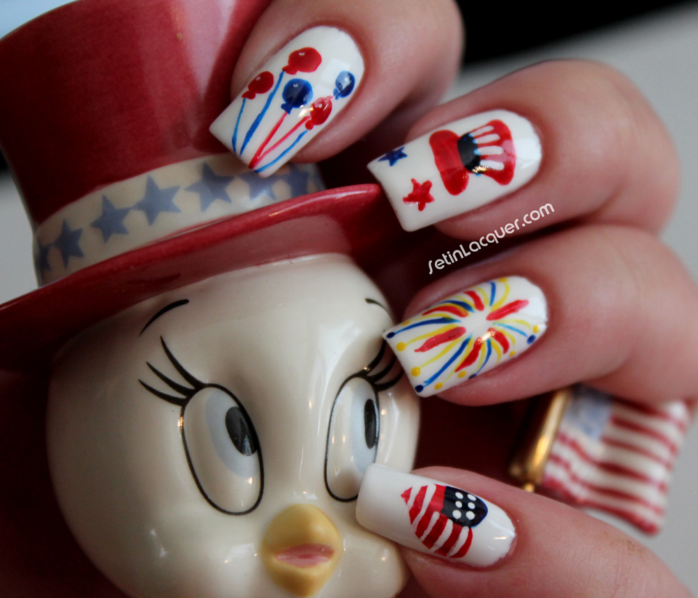 July 4 Nail Art – ledufa.com