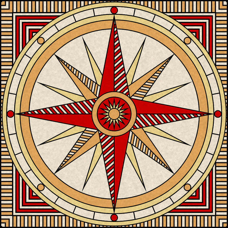 image about Printable Compass Rose identified as Dont Take in the Paste: Comp Rose printable reward box - 2