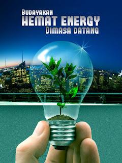 poster budayakan hemat energi