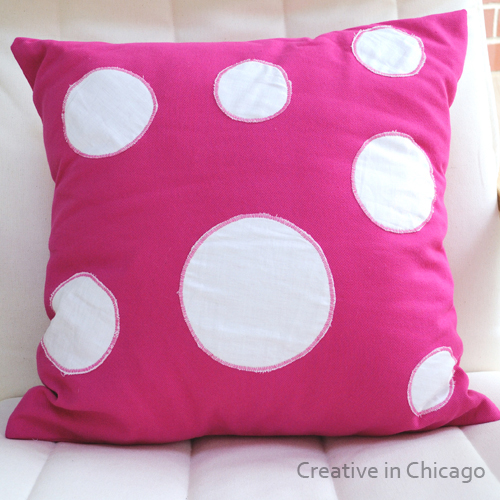sew it yourself dotty pillow