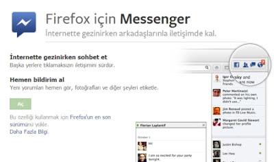 Firefox'ta Facebook Sohbeti