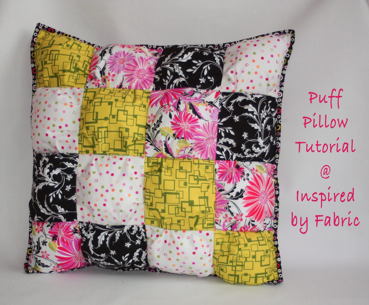 Inspired By Fabric Puff Pillow Tutorial