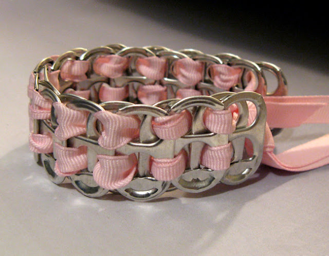5 braceletes de anéis de latinhas de alumínio
