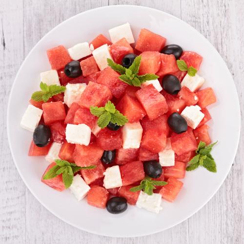 Watermelon, Feta Cheese Salad, Tanvii.com