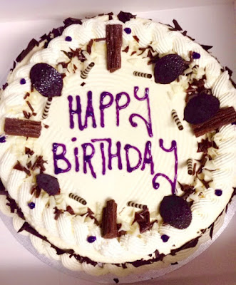 bismillah bakery cream happy birthday chocolate and vanilla cream cake