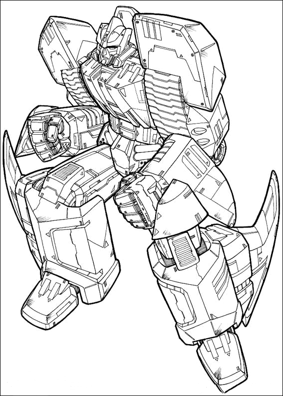 transformers fighting coloring pages - photo#9