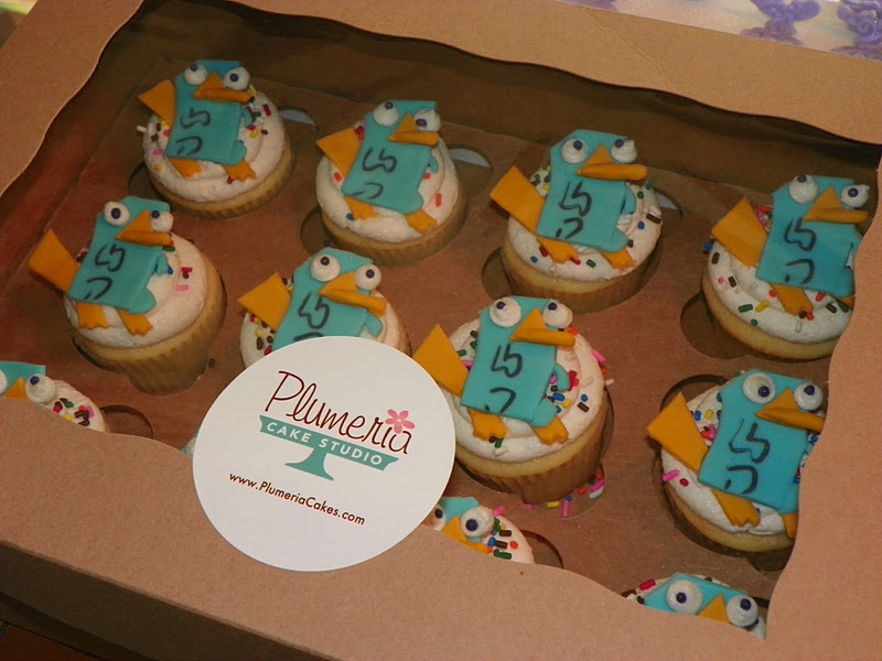Perry The Platypus Cupcakes