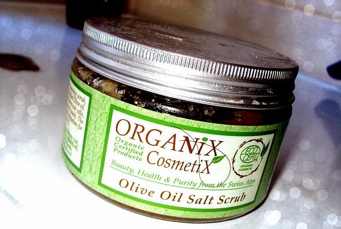 Organix Cosmetix, Natural Olive Oil Salt Scrub (Organiczny scrub solny z oliwą z oliwek)