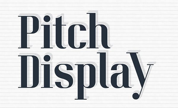 Download Gratis Font Terbaru September 2015 - Pitch Display