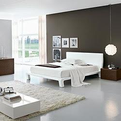 habitación blanca con gris