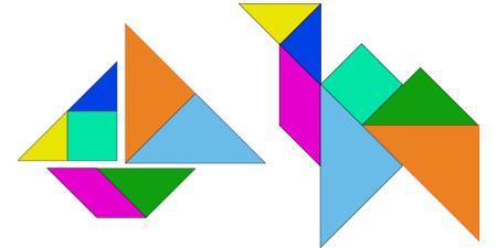 Para jugar al tangram hay que tener en cuenta sólo dos reglas: hay ...