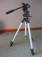 Camera - Photo of old Manfrotto tripdo