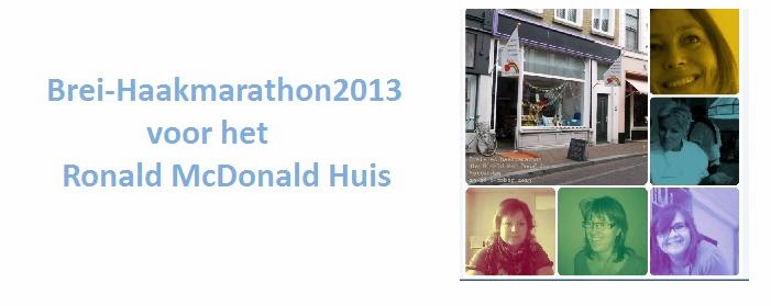 Brei-haakmarathon2013 voor het Ronald McDonald Huis