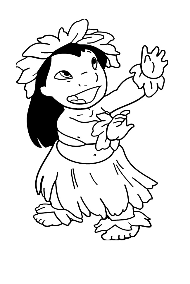 hawaiian coloring pages for children - photo#15