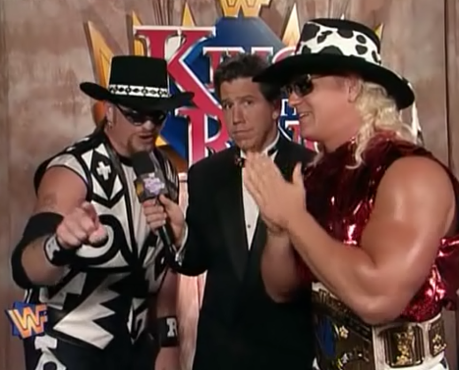 WWF / WWE - King of the Ring 1995 - The Road Dogg and Jeff Jarrett with Todd Pettengill