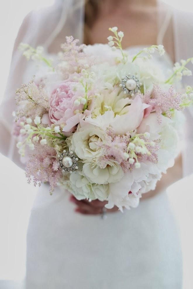 Bouquet de Novia en Tonos Rosados.