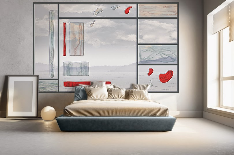 poster mural déco verrière dans une chambre