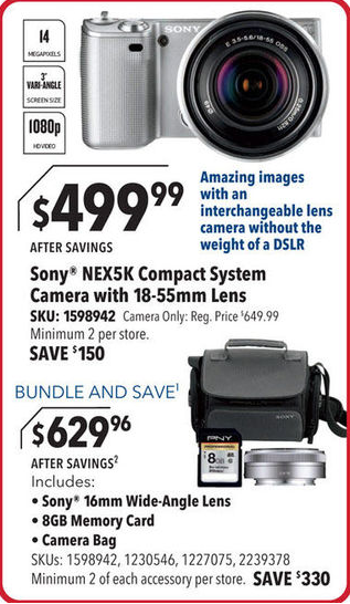 sony nex black friday deal