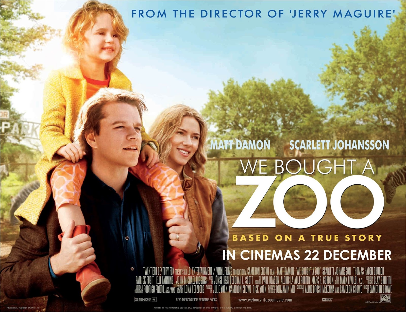 We Bought A Zoo Film Promotional Poster - Motherdistracted.co.uk