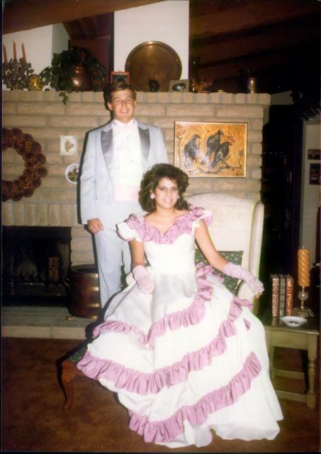1980s prom photo