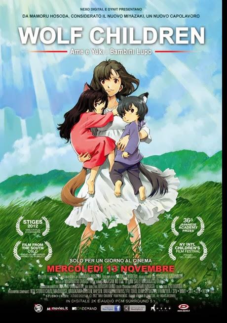 Wolf Childern al cinema in italiano