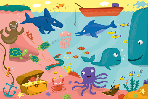 Chickengirl design fun facts puzzle under the sea for 10 facts about the ocean floor