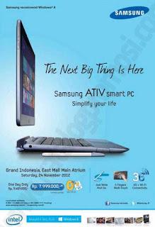 Harga Samsung Ativ Smart Pc Dan Spesifikasi 2013 Berita Terbaru 2014