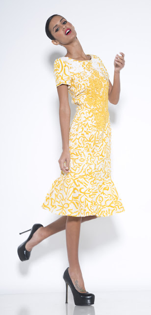 eDrop-Off Fashion Vault sale of Oscar de la Renta yellow dress