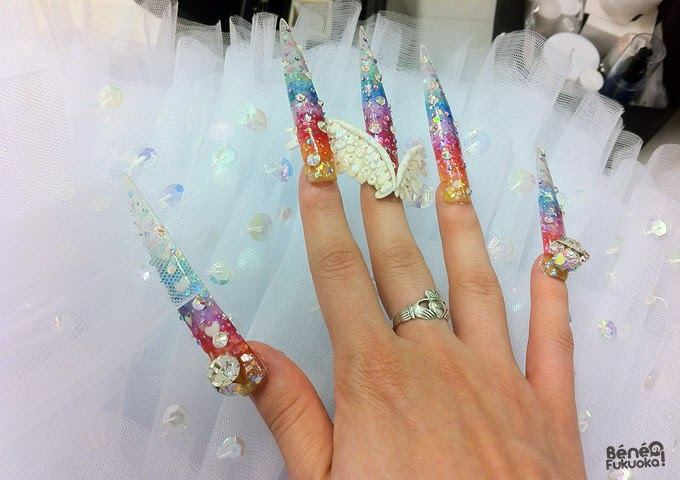 Nail art magical girl