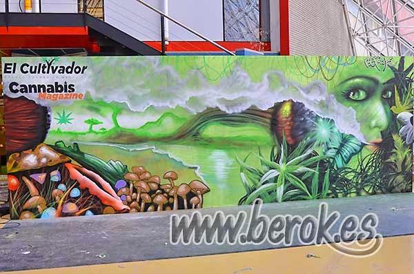 Graffiti en la feria del cáñamo de Cornellá de Llobregat , Spannabis 2015