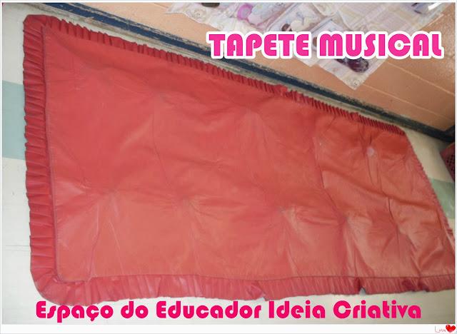 Tapete Musical Educação Infantil Espaço do Educador