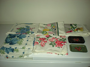Vintage Tablecloths and Trays