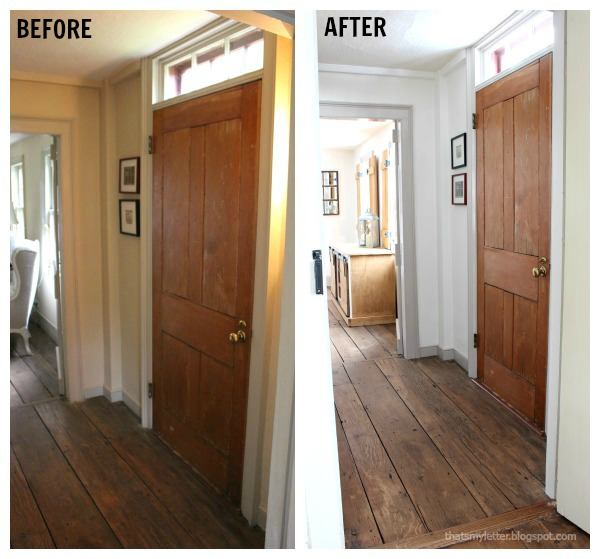 Small Foyer Makeovers : That s my letter foyer makeover in antique farmhouse
