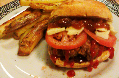 fancy a burger and chips here is a super easy and fast way to make ...