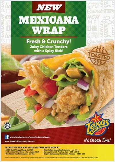 Mexicana Wrap Texas Chicken