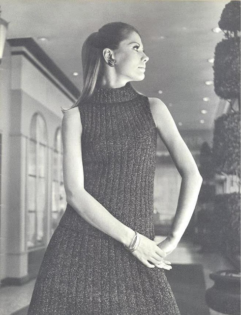 The Vintage Pattern Files: Free 1960's Knitting Pattern  - Shell Top and Skirt