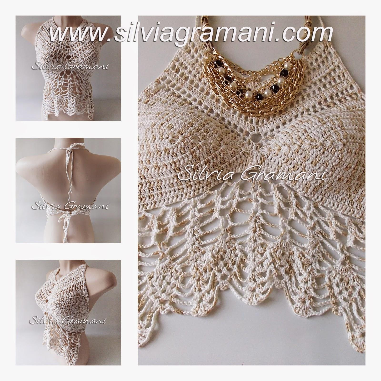 Top Cropped Valentina em croche