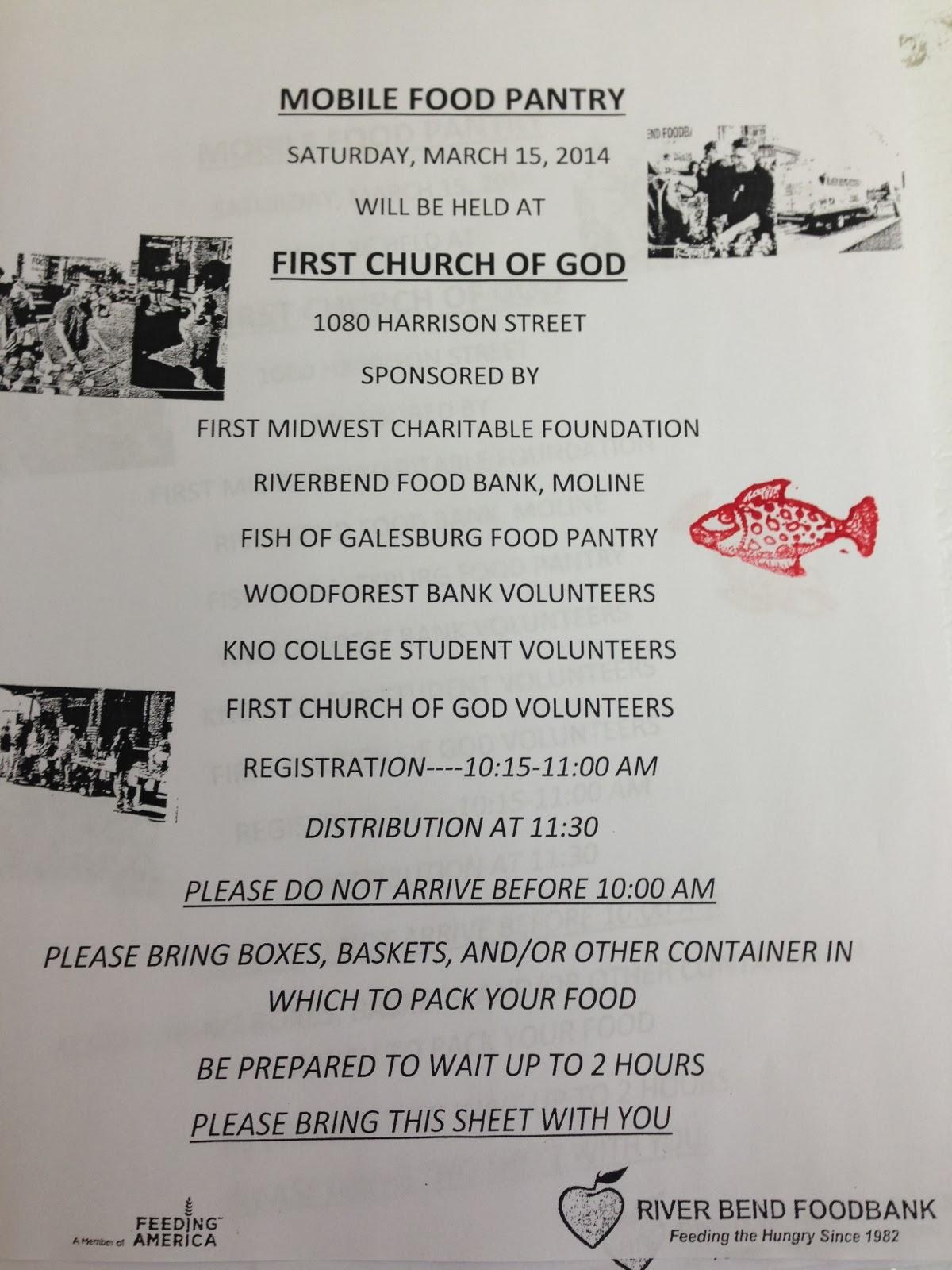 Galesburg fish food 2014 for Fish food pantry