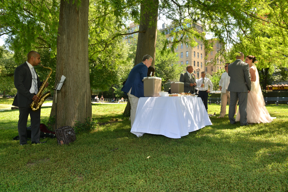 Buffet about to open - Harlem Meer picnic
