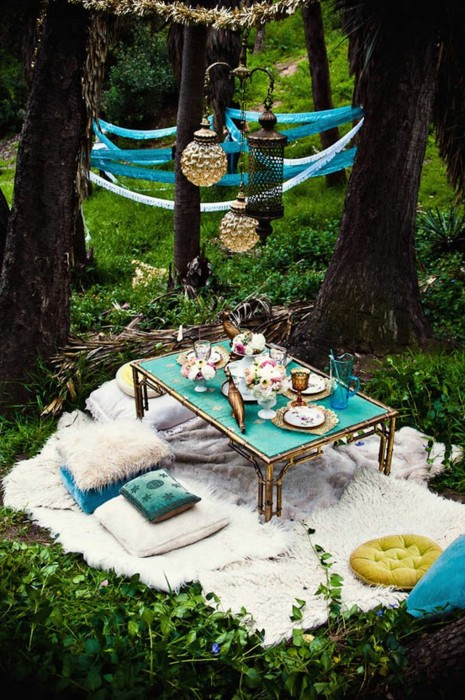 Bohemian Backyard Design : Dishfunctional Designs Dreamy Bohemian Garden Spaces